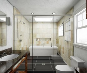 Small size bathroom decoration effect HD picture 07