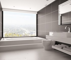 Small size bathroom decoration effect HD picture 08