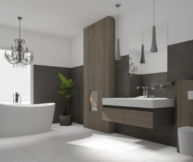 Small size bathroom decoration effect HD picture 09