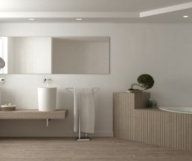 Small size bathroom decoration effect HD picture 10