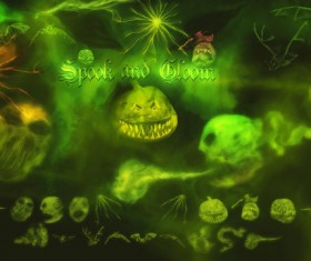 Spook and Gloom photoshop brushes