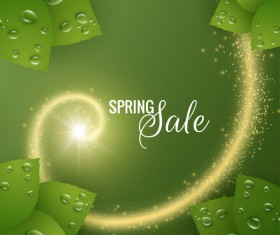 Star light with spring sale background vector 01