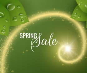 Star light with spring sale background vector 02