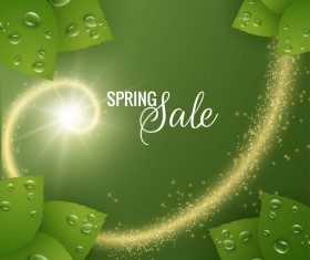 Star light with spring sale background vector 03