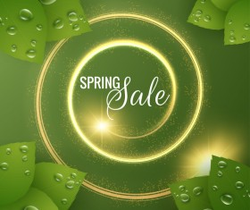 Star light with spring sale background vector 04