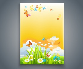 Summer holiday flyer and cover brochure template vector 01