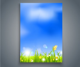 Summer holiday flyer and cover brochure template vector 02