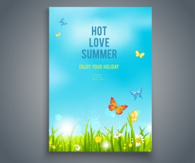 Summer holiday flyer and cover brochure template vector 03