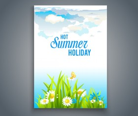 Summer holiday flyer and cover brochure template vector 05