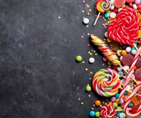 Sweets on a black background Stock Photo 01