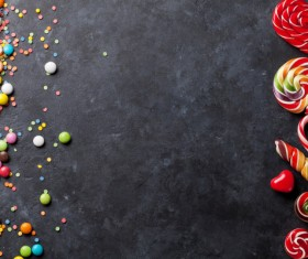 Sweets on a black background Stock Photo 02