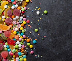 Sweets on a black background Stock Photo 03