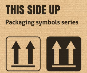 THIS SIDE UP icons series vector