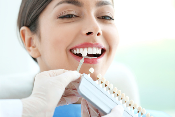 Tooth color contrast Stock Photo 01