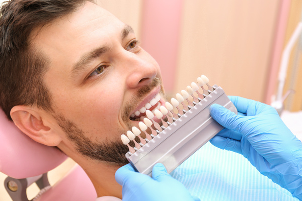 Tooth color contrast Stock Photo 02