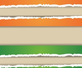 Torn paper background vector material 07