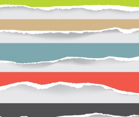 Torn paper background vector material 09
