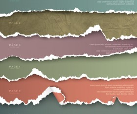 Torn paper with page background vector 01