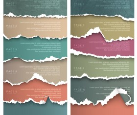 Torn paper with page background vector 02