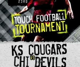 Touch Football Tournament Flyer Psd Template