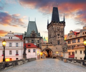 Tourist attraction in Prague Stock Photo 04