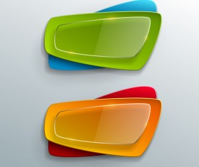Transparent glass with colorful banner vector