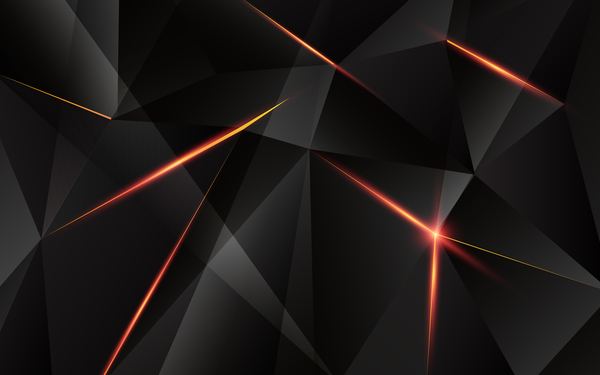 Triangular Geometry Black With Red Light Vector 02 Free