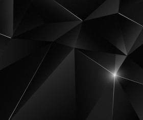 Triangular geometry black with white light vector