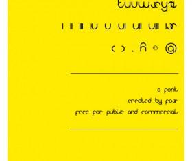 Typeface Version Font