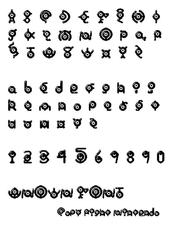UNOWN Font