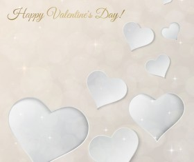 Valentine day card shiny background vector