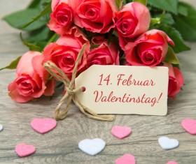 Valentine's Day Flowers Bouquet Stock Photo 01