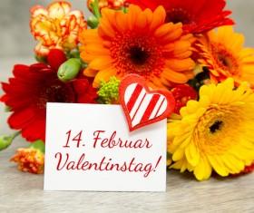 Valentine's Day Flowers Bouquet Stock Photo 02