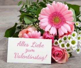 Valentine's Day Flowers Bouquet Stock Photo 04