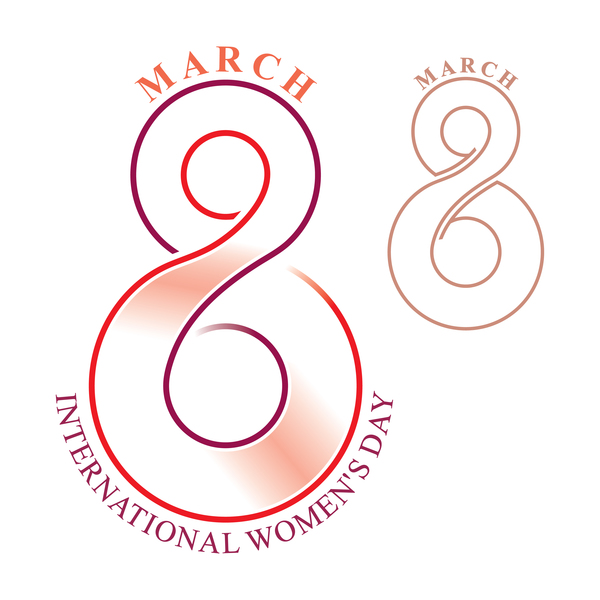 Template 8 March women day vector