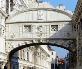 Venice Bridge of Sighs Stock Photo