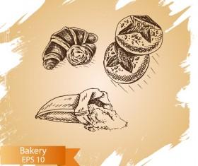 Vintage bakery grunge background vector