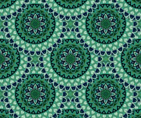 Vintage floral texture pattern vectors 01