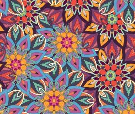 Vintage floral texture pattern vectors 06