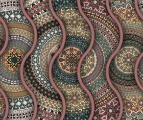 Vintage floral texture pattern vectors 11