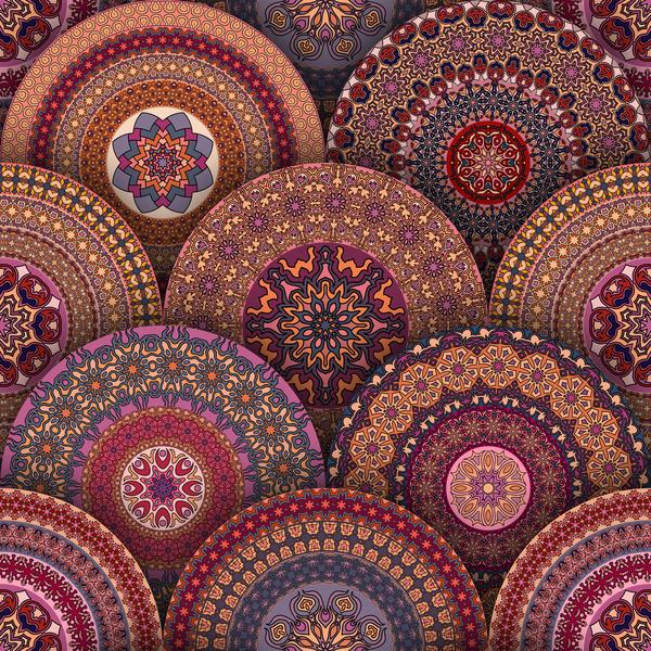 Vintage floral texture pattern vectors 15 free download