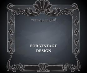 Vintege vector frame with black background vector 01