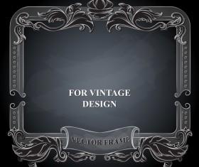 Vintege vector frame with black background vector 02