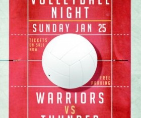 Volleyball Night Flyer Psd Template