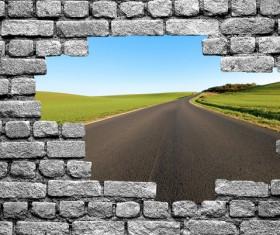 Wall holes to freedom Stock Photo 03