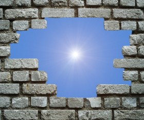 Wall holes to freedom Stock Photo 07