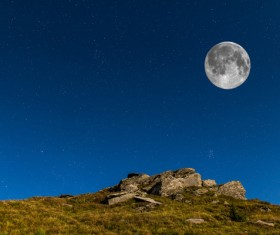 Watch the moon Stock Photo