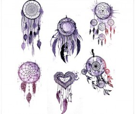 Watercolor Dreamcatchers photoshop brushes