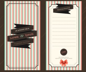 Wedding invitation template vintage styles vector 04