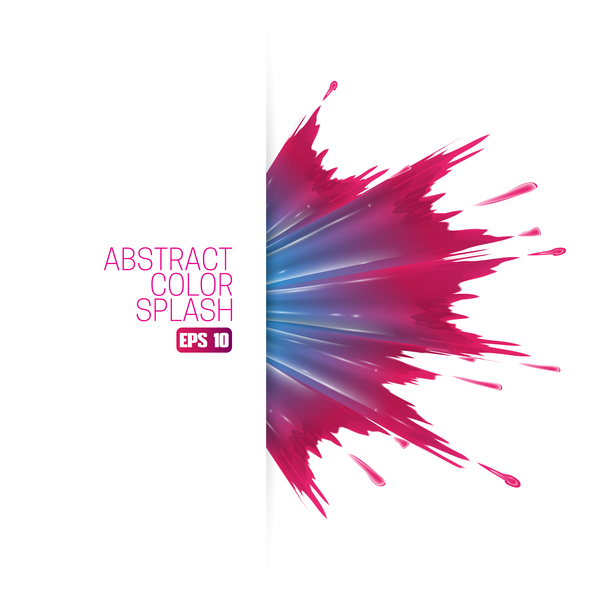 White Background And Abstract Color Splash Vector Material